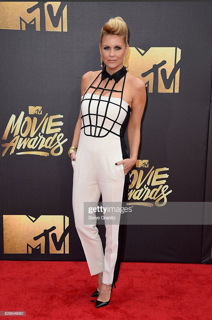 TV personality Carrie Keagan attends the 2016 MTV Movie Awards at Warner Bros. Studios on April 9, 2016 in Burbank, California. MTV Movie Awards airs April 10, 2016 at 8pm ET/PT.