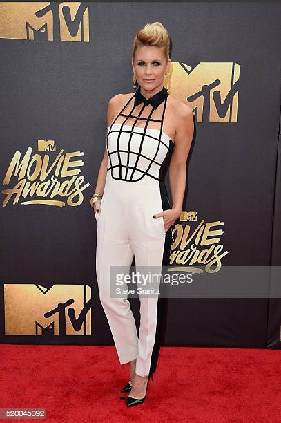TV personality Carrie Keagan attends the 2016 MTV Movie Awards at Warner Bros Studios on April 9 2016 in Burbank California MTV Movie Awards airs...