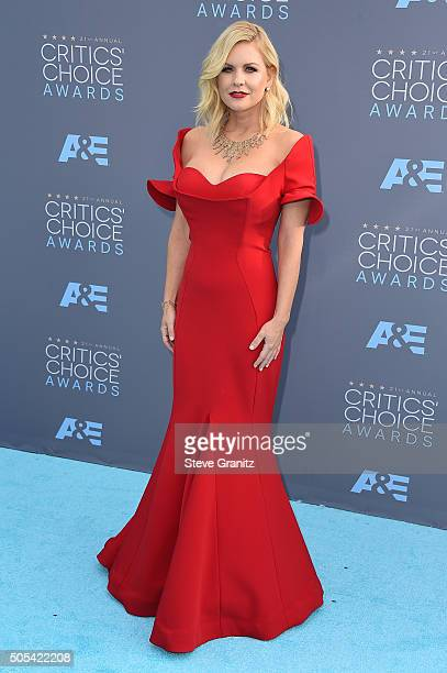 TV personality Carrie Keagan attends the 21st Annual Critics' Choice Awards at Barker Hangar on January 17 2016 in Santa Monica California