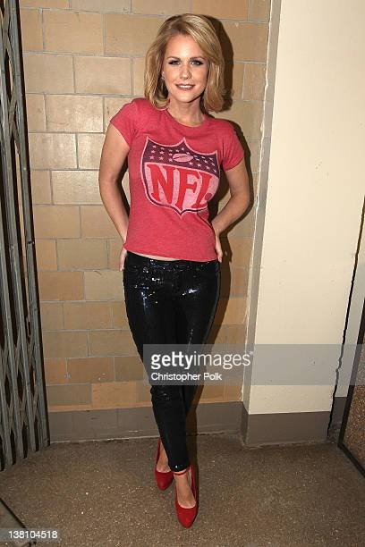 TV personality Carrie Keagan attends VH1's Super Bowl Fan Jam at Indiana State Fairgrounds Pepsi Coliseum on February 2 2012 in Indianapolis Indiana