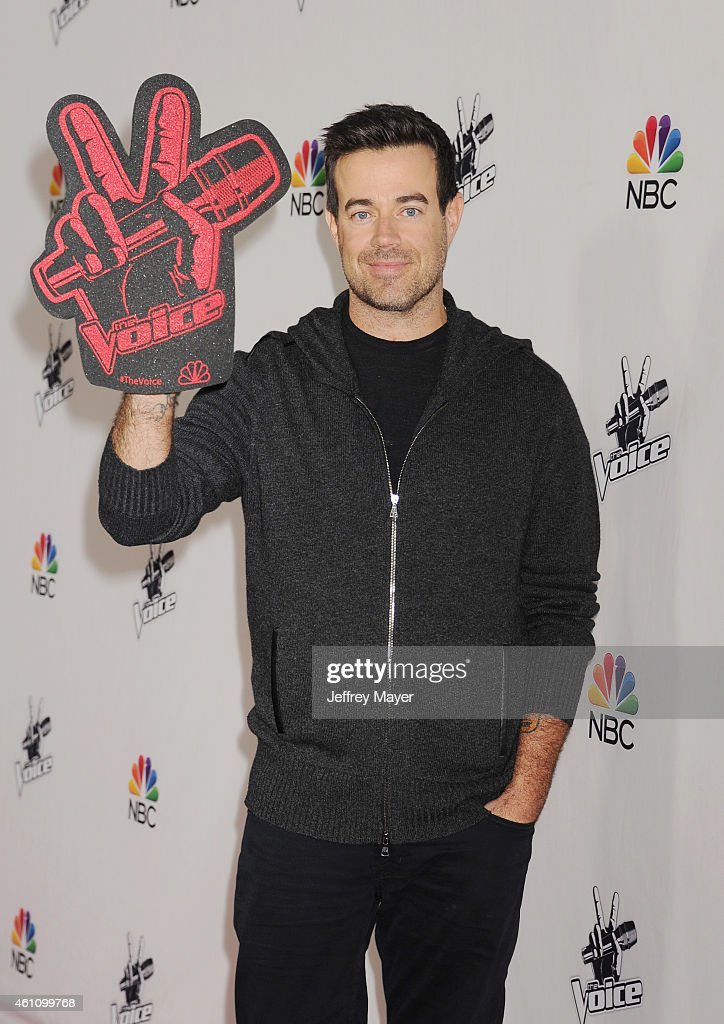 TV personality Carson Daly attends the NBC's 'The Voice' Season 7 Red Carpet Event held at HYDE Sunset: Kitchen + Cocktails on December 8, 2014 in West Hollywood, California.