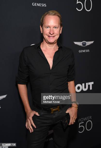 TV personality Carson Kressley attends OUT Magazine's OUT POWER 50 gala and award presentation presented by Genesis on August 10 2017 in Los Angeles...