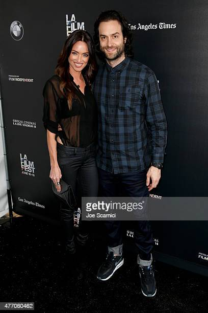 TV personality Cassi Colvin and actorcomedian Chris D'Elia attend the Flock of Dudes screening during the 2015 Los Angeles Film Festival at Regal...