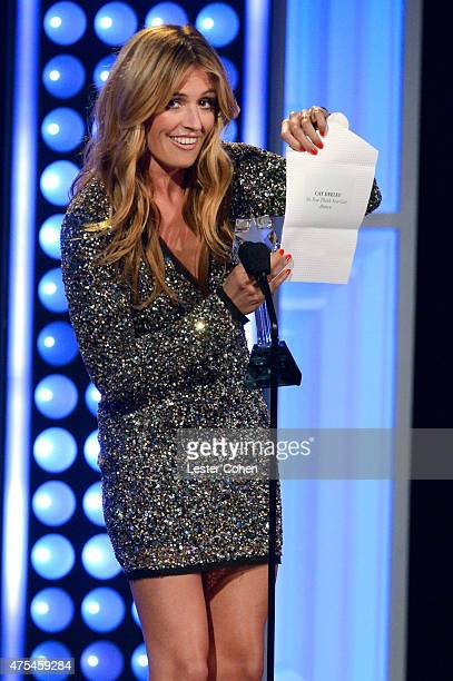 TV personality Cat Deeley accepts the Best Reality Series Host award for So You Think You Can Dance onstage at the 5th Annual Critics' Choice...