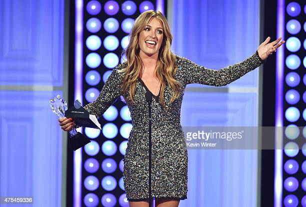 TV personality Cat Deeley accepts the Best Reality Show Host award for So You Think You Can Dance onstage at the 5th Annual Critics' Choice...