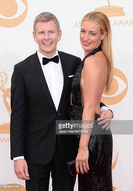 TV personality Cat Deeley and husband Patrick Kielty arrive at the 65th Annual Primetime Emmy Awards held at Nokia Theatre LA Live on September 22...