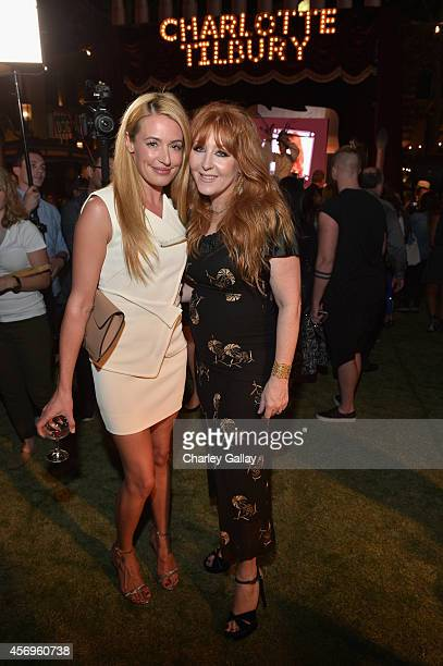 TV personality Cat Deeley and makeup artist Charlotte Tilbury attend 'Charlotte Tilbury arrives in America VIP Beauty Launch Event' presented by...