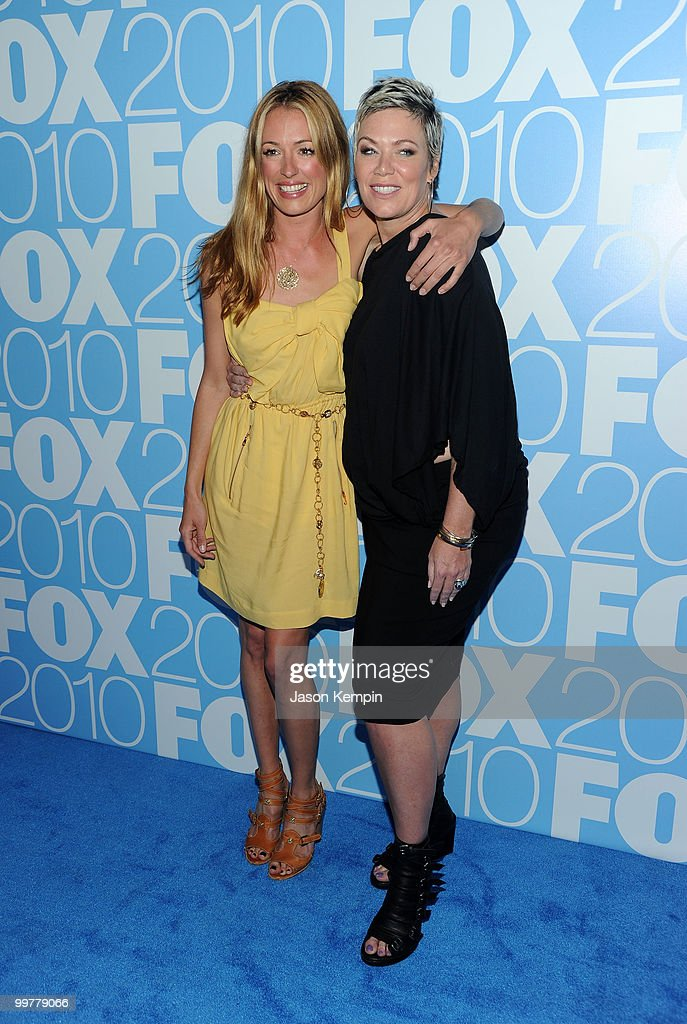 TV personality Cat Deeley and Mia Michaels attend the 2010 FOX Upfront after party at Wollman Rink, Central Park on May 17, 2010 in New York City.