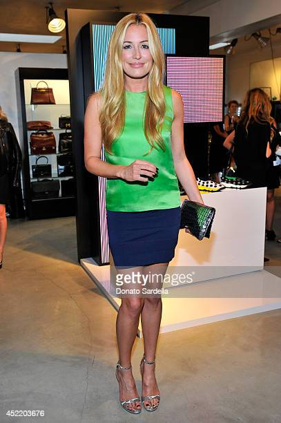 TV personality Cat Deeley attends Dior and Maxfield Celebrate the Launch of Winter 2014 Dior Fusion Sneaker Collection with a Cocktail Party at...