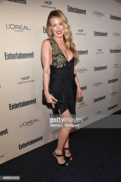Personality Cat Deeley attends the 2015 Entertainment Weekly Pre-Emmy Party at Fig & Olive Melrose Place on September 18, 2015 in West Hollywood,...