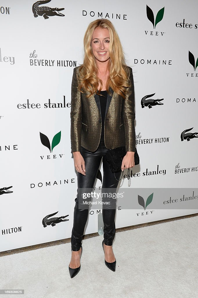 TV personality Cat Deeley attends The Beverly Hilton unveiling of the redesigned Aqua Star Pool By Estee Stanley at The Beverly Hilton Hotel on May 22, 2013 in Beverly Hills, California.