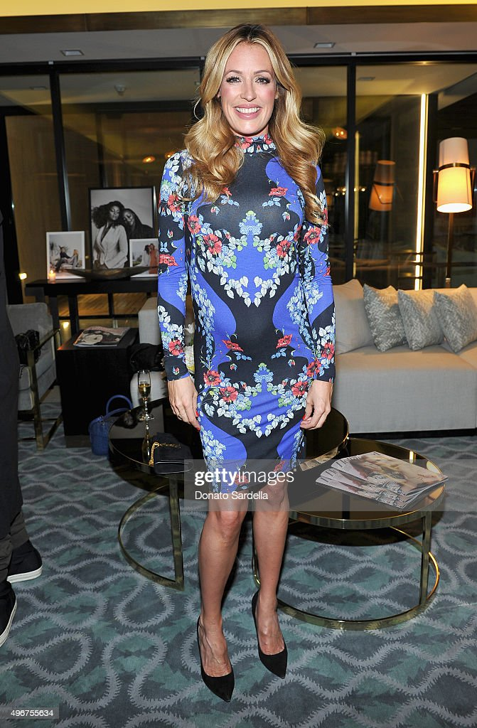 TV personality Cat Deeley attends The Hollywood Reporter's Beauty Dinner at The London West Hollywood on November 11, 2015 in West Hollywood, California.