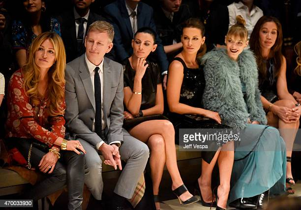 TV personality Cat Deeley comedian Patrick Kielty model Liberty Ross and actors Kate Beckinsale and Jaime King attend the Burberry 'London in Los...