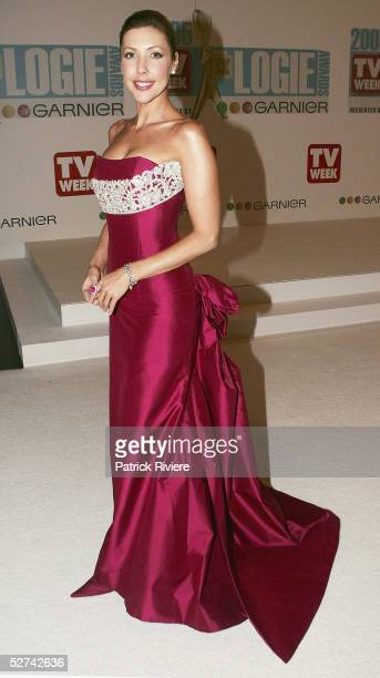 TV personality Catriona Rowntree arrives at the 47th Annual TV Week Logie Awards at the Crown Entertainment Complex May 1 2005 in Melbourne Australia