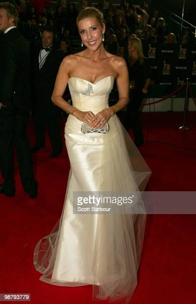 TV personality Catriona Rowntree arrives at the 52nd TV Week Logie Awards at Crown Casino on May 2 2010 in Melbourne Australia