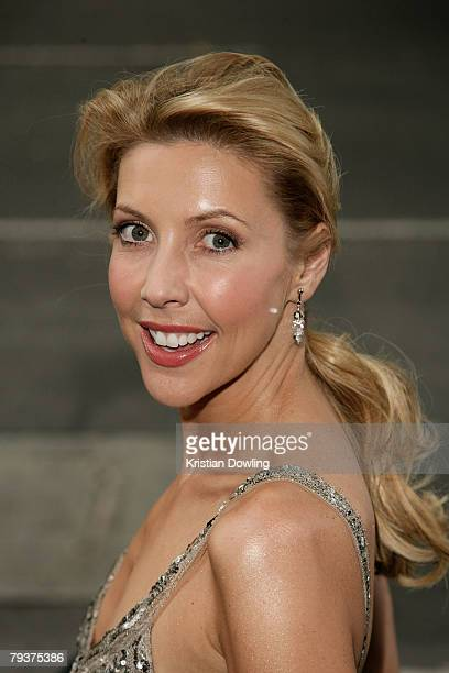 Personality Catriona Rowntree attends the launch for Channel 9's new television show 'Underbelly' at the Waterside Hotel on January 30 2008 in...