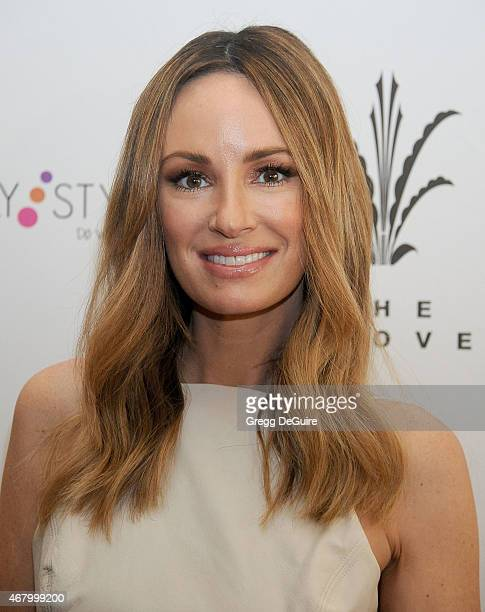 TV personality Catt Sadler arrives at Simply Stylist LA at The Grove on March 28 2015 in Los Angeles California