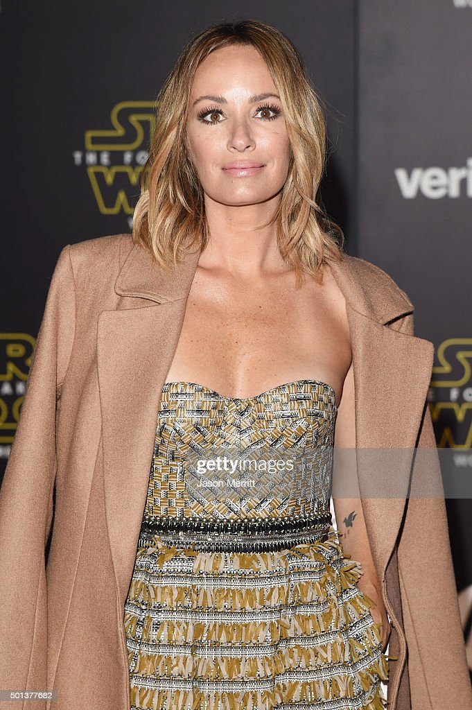 TV personality Catt Sadler attends Premiere of Walt Disney Pictures and Lucasfilm's 'Star Wars: The Force Awakens' on December 14, 2015 in Hollywood, California.