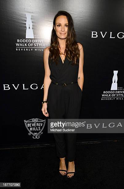 TV personality Catt Sadler attends the Rodeo Drive Walk Of Style honoring BVLGARI and Mr Nicola Bulgari held at Bulgari on December 5 2012 in Beverly...