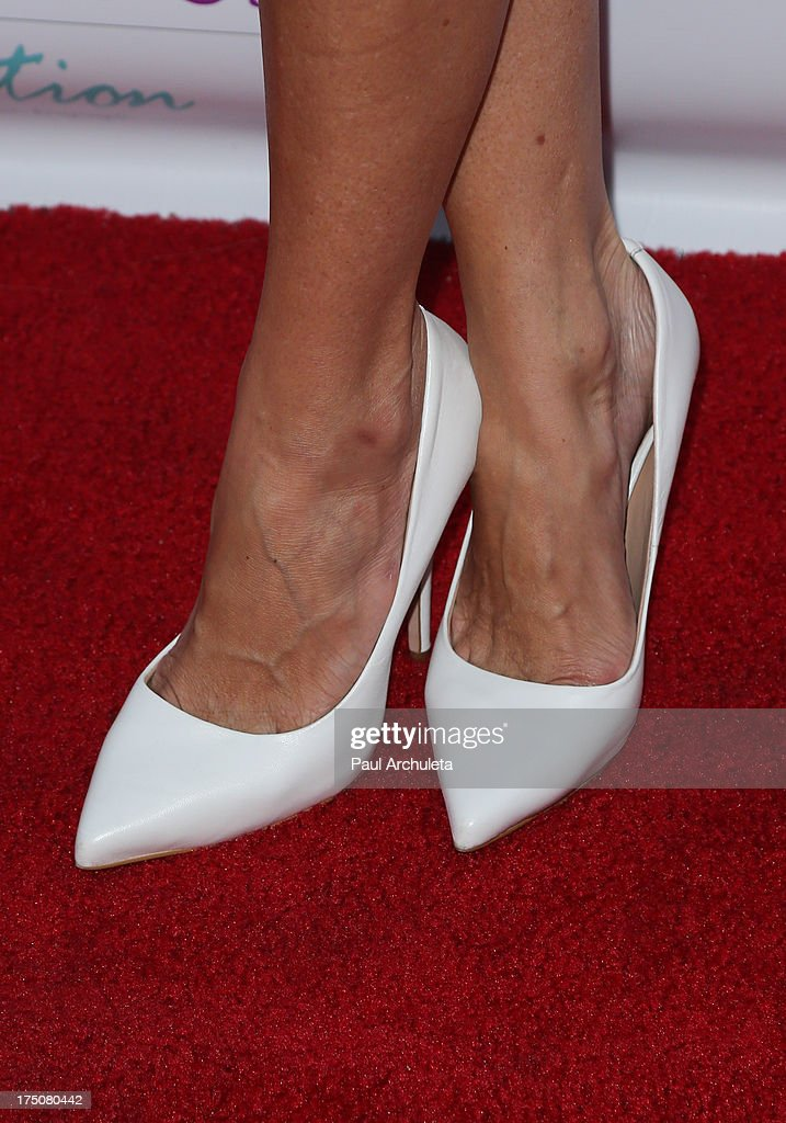 TV Personality Catt Sadler (Shoe Detail) attends the Women Like Us Foundation's One Girl At A Time fundraiser at The Aventine Hollywood on July 30, 2013 in Hollywood, California.