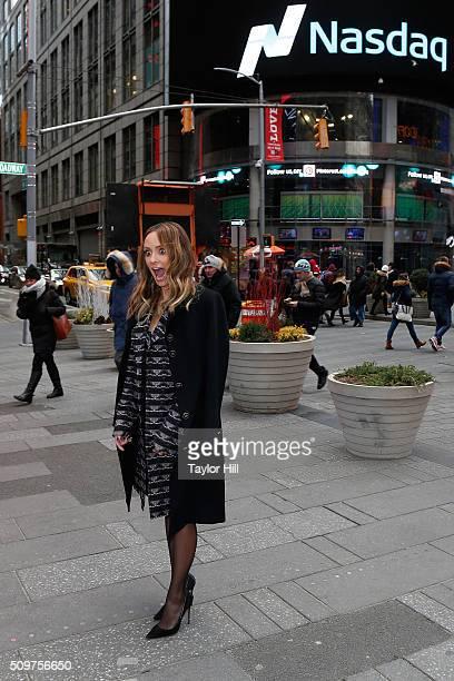 TV personality Catt Sadler visits NASDAQ Marketsite on February 11 2016 in New York City