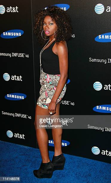 TV personality Celestina attends the Samsung Infuse 4G launch event featuring Nicki Minaj at Milk Studios on May 12 2011 in Los Angeles California