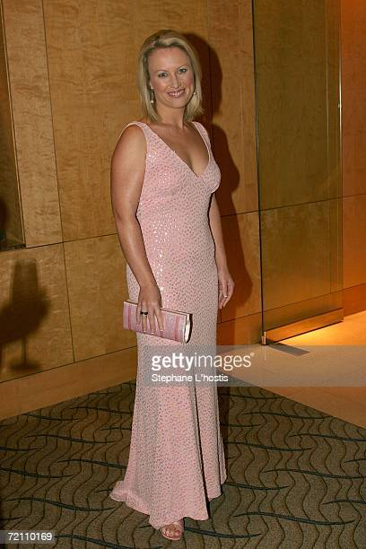 Personality Celina Edmonds arrives at the 2006 Pink Ribbon Ball as part of Breast Cancer Month and to raise money for the Sydney Breast Cancer...
