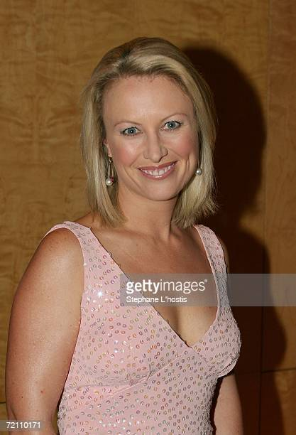 TV personality Celina Edmonds arrives at the 2006 Pink Ribbon Ball as part of Breast Cancer Month and to raise money for the Sydney Breast Cancer...