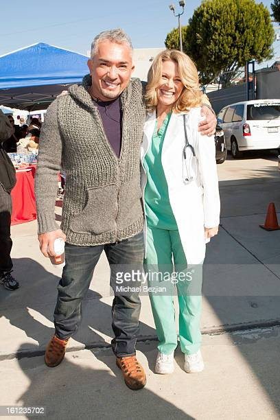TV personality Cesar Millan and Veterinarian Doc Halligan attend Cesar Millan and Carrie Ann Inaba team up for National Spay and Neuter Month at...