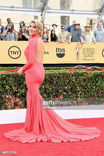 TV personality Charissa Thompson attends the 21st Annual Screen Actors Guild Awards at The Shrine Auditorium on January 25 2015 in Los Angeles...