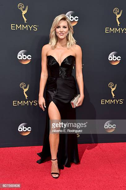 TV personality Charissa Thompson attends the 68th Annual Primetime Emmy Awards at Microsoft Theater on September 18 2016 in Los Angeles California