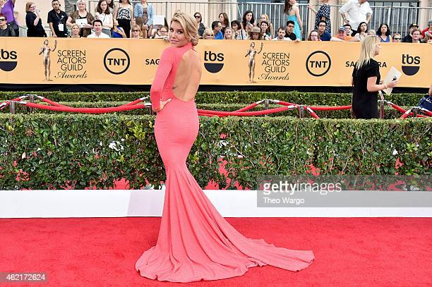 TV personality Charissa Thompson attends TNT's 21st Annual Screen Actors Guild Awards at The Shrine Auditorium on January 25 2015 in Los Angeles...