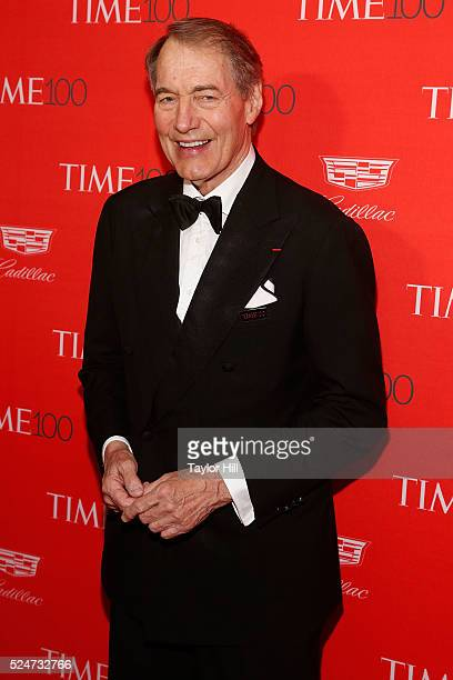 TV personality Charlie Rose attends the 2016 Time 100 Gala at Frederick P Rose Hall Jazz at Lincoln Center on April 26 2016 in New York City