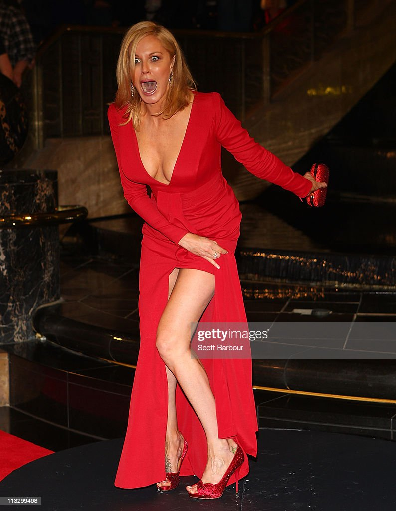 TV personality Charlotte Dawson arrives on the red carpet ahead of the 2011 Logie Awards at Crown Palladium on May 1, 2011 in Melbourne, Australia.