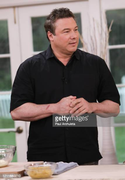 Personality / Chef Rocco di Spirito visits Hallmark Channel's Home Family at Universal Studios Hollywood on March 11 2020 in Universal City California