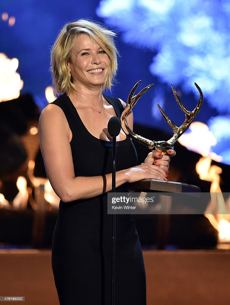 TV personality Chelsea Handler accepts the Funniest M.F. award onstage during Spike TV's Guys Choice 2015 at Sony Pictures Studios on June 6, 2015 in Culver City, California.