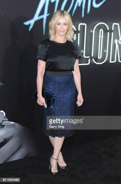 TV personality Chelsea Handler attends the premiere of Focus Features' 'Atomic Blonde' at The Theatre at Ace Hotel on July 24 2017 in Los Angeles...