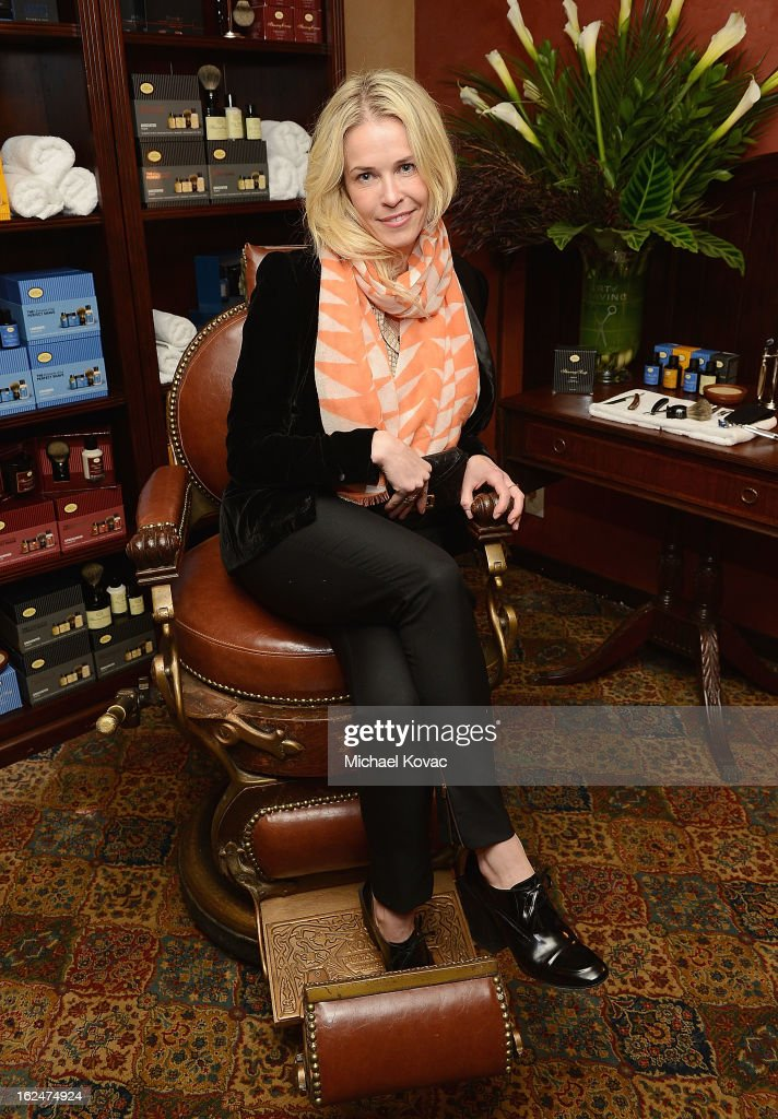 TV personality Chelsea Handler attends the The Art of Shaving And Bungalow 8 Pre-Oscar Party at Petit Ermitage Hotel on February 20, 2013 in West Hollywood, California.