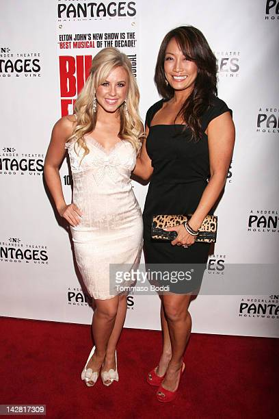 TV personality Chelsie Hightower and Carrie Ann Inaba attend the Billy Elliot Los Angeles opening night held at the Pantages Theatre on April 12 2012...