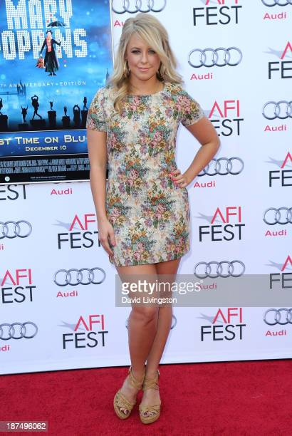 TV personality Chelsie Hightower attends the AFI FEST 2013 presented by Audi 50th Anniversary Commemoration Screening of Disney's Mary Poppins at the...