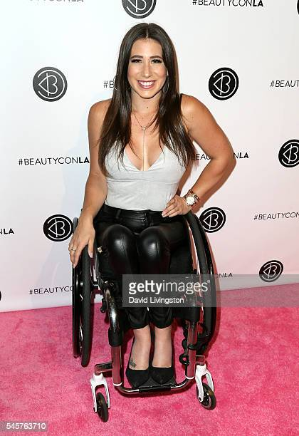 TV personality Chelsie Hill attends the 4th Annual Beautycon Festival at Los Angeles Convention Center on July 9 2016 in Los Angeles California