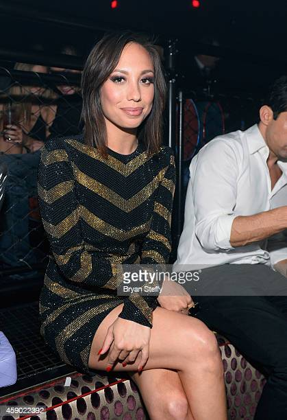 TV personality Cheryl Burke attends iHeart Radio's special recording of The Melting Pot at the Light Nightclub at the Mandalay Bay Resort Casino on...
