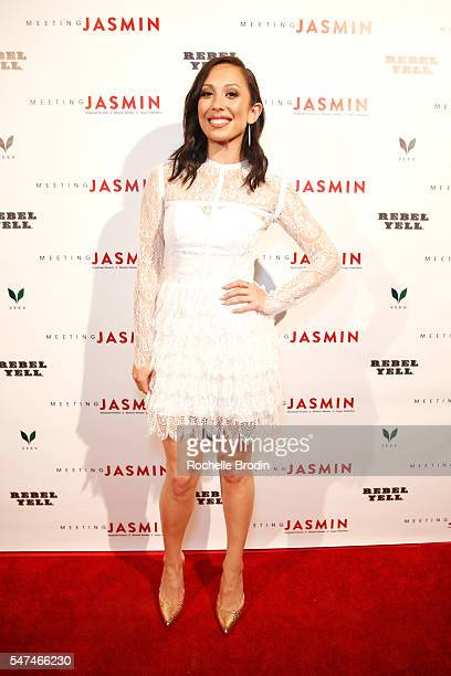 Personality Cheryl Burke attends Meeting JASMIN Fine Art Exhibition at Ace Gallery on July 14, 2016 in Los Angeles, California.