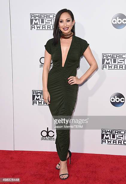 TV personality Cheryl Burke attends the 2015 American Music Awards at Microsoft Theater on November 22 2015 in Los Angeles California