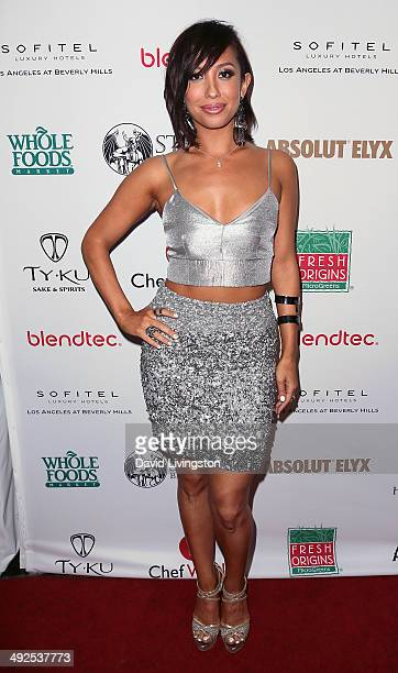 TV personality Cheryl Burke attends the 'Dancing with the Stars' Season 18 official wrap party at the Sofitel Hotel on May 20 2014 in Los Angeles...