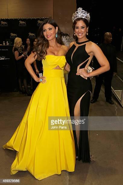 TV personality Chiquinquira Delgado and model/recording artist Aleyda Ortiz attend the 15th annual Latin GRAMMY Awards at the MGM Grand Garden Arena...
