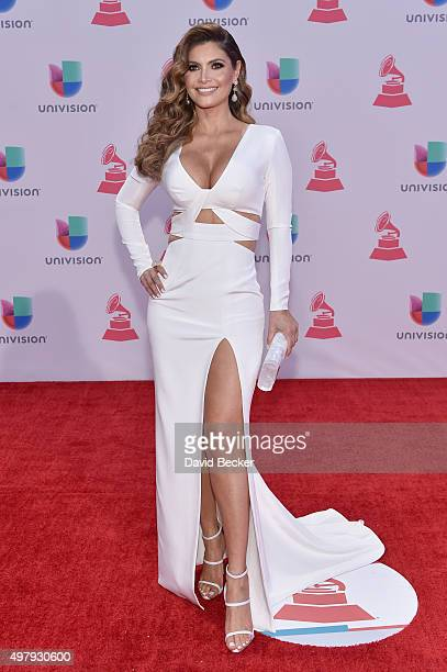 TV personality Chiquinquira Delgado attends the 16th Latin GRAMMY Awards at the MGM Grand Garden Arena on November 19 2015 in Las Vegas Nevada