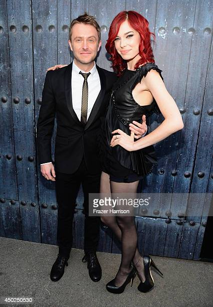TV personality Chris Hardwick and actress Chloe Dykstra attend Spike TV's Guys Choice 2014 at Sony Pictures Studios on June 7 2014 in Culver City...