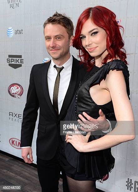 TV personality Chris Hardwick and actress Chloe Dykstra attends Spike TV's Guys Choice 2014 at Sony Pictures Studios on June 7 2014 in Culver City...