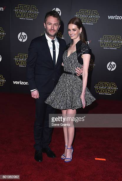 TV personality Chris Hardwick and actress Lydia Hearst arrive at the premiere of Walt Disney Pictures' and Lucasfilm's 'Star Wars The Force Awakens'...